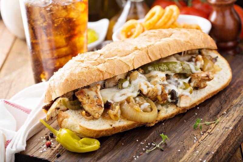Сандвич melt цыпленка стоковые фотографии rf