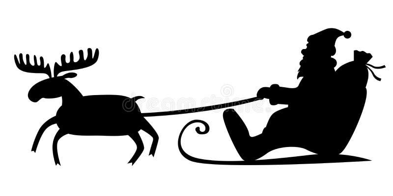 Сани Санта Клауса бесплатная иллюстрация