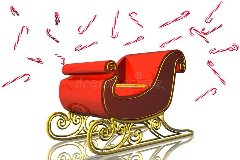 сани 3d santa бесплатная иллюстрация