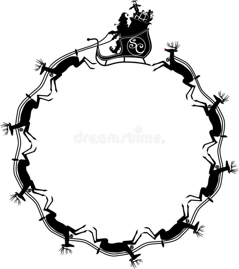 сани santa северного оленя jpg бесплатная иллюстрация