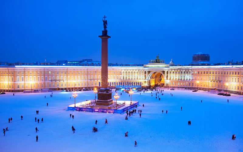 Санкт-Петербург Россия Квадрат дворца стоковая фотография