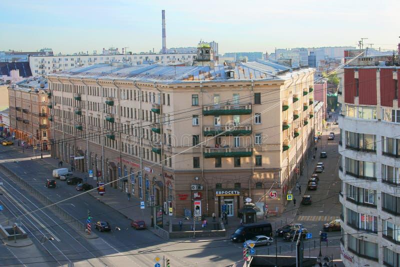 Санкт-Петербург, Россия - 7-ое мая 2016: Взгляд перспективы Liteyny стоковое фото