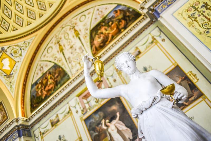 Санкт-Петербург, Россия, 4-ое октября 2016: Скульптура в Hermitag стоковая фотография