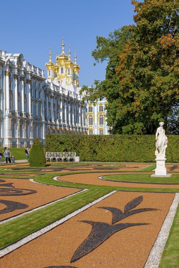 Санкт-Петербург, Россия сентябрь 2012: Дворец Катрина в Pushkin стоковые изображения rf