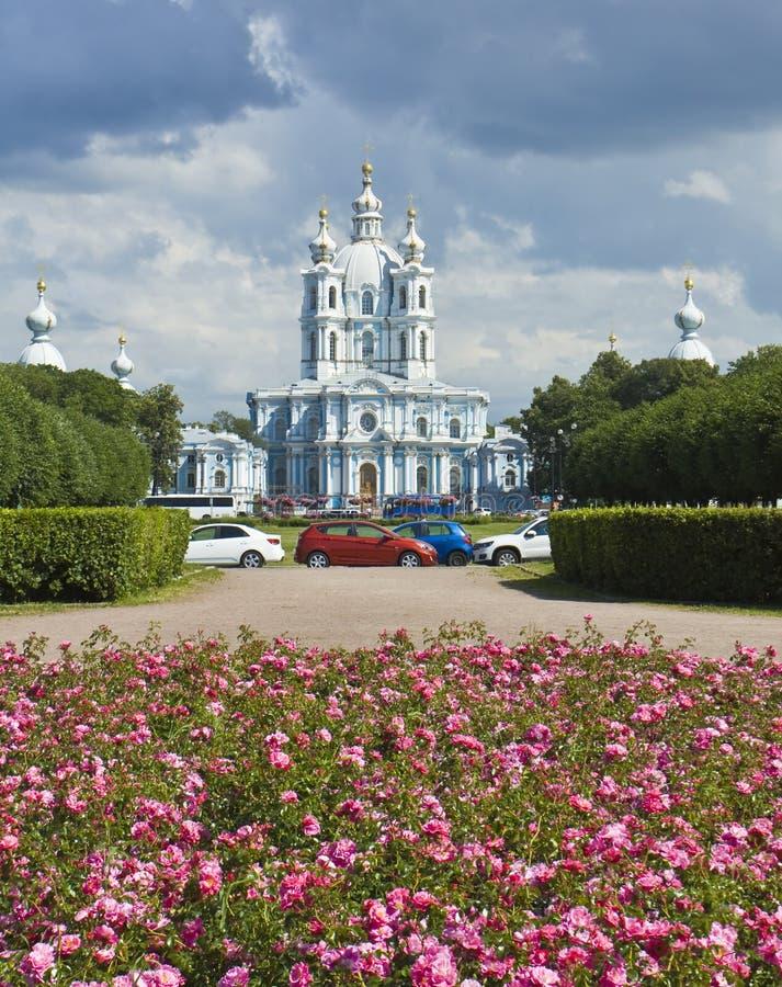 Санкт-Петербург, собор воскресения Ressurrection Smolniy стоковое изображение