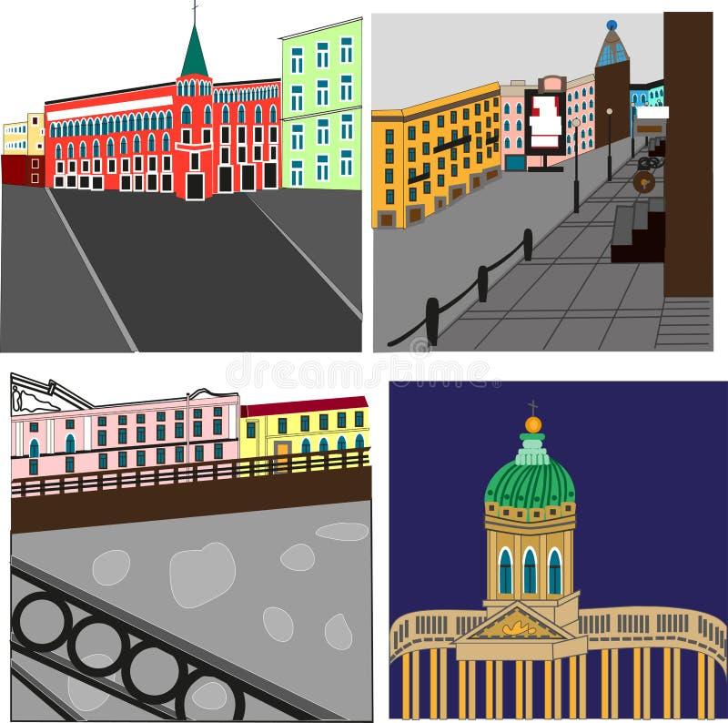 Санкт-Петербург иллюстрация штока