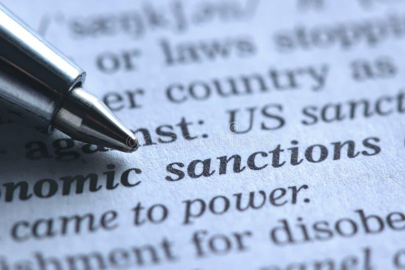 санкция стоковое фото