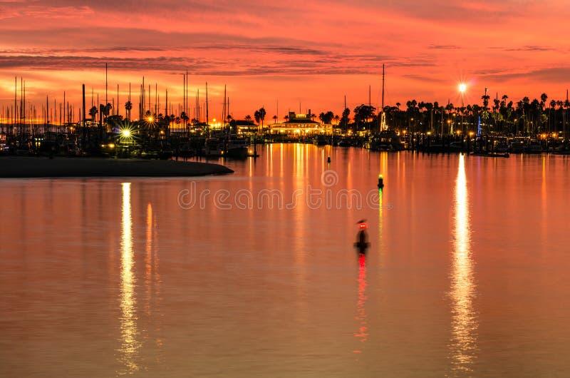 Санта-Барбара на заходе солнца стоковое фото