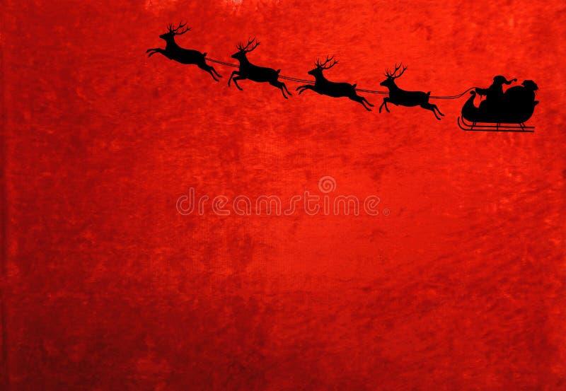 Санта и северный олень стоковое фото