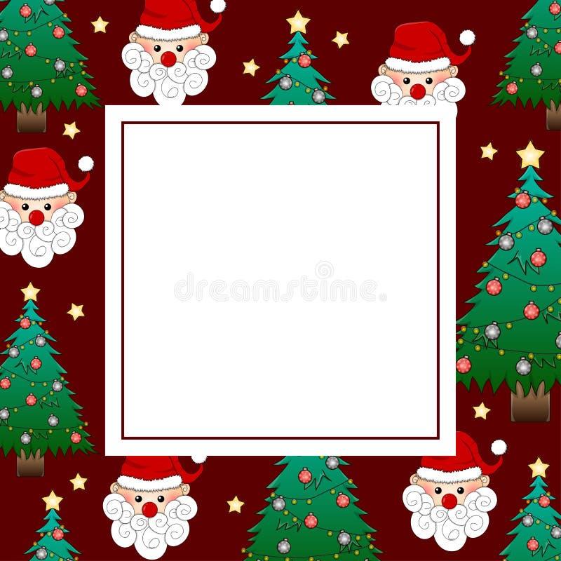 Санта Клаус и рождественская елка на карточке Красного знамени также вектор иллюстрации притяжки corel бесплатная иллюстрация