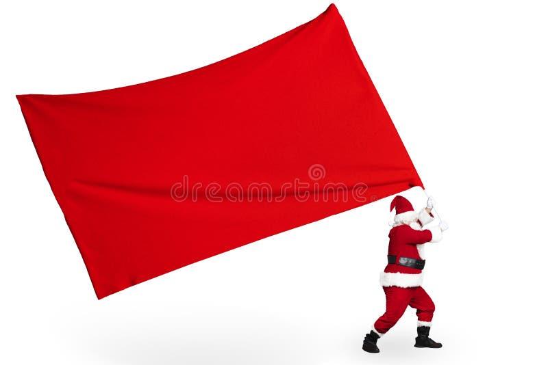 Санта Клаус с большой эмблемой революции стоковые фото