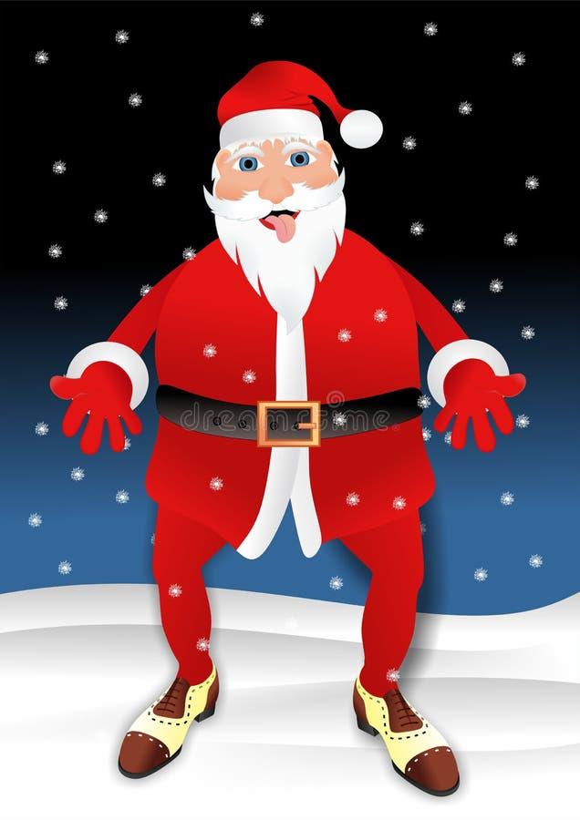 Санта Клаус с различными ботинками бесплатная иллюстрация