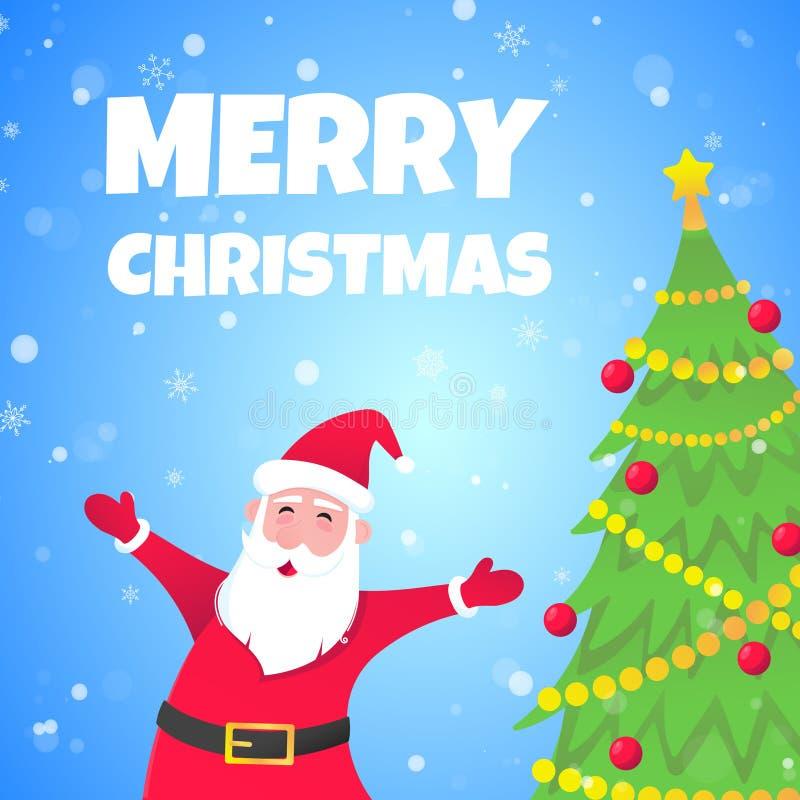 Санта-Клаус, christmas tree fir плоский стиль дизайна значок знак векторной иллюстрации бесплатная иллюстрация