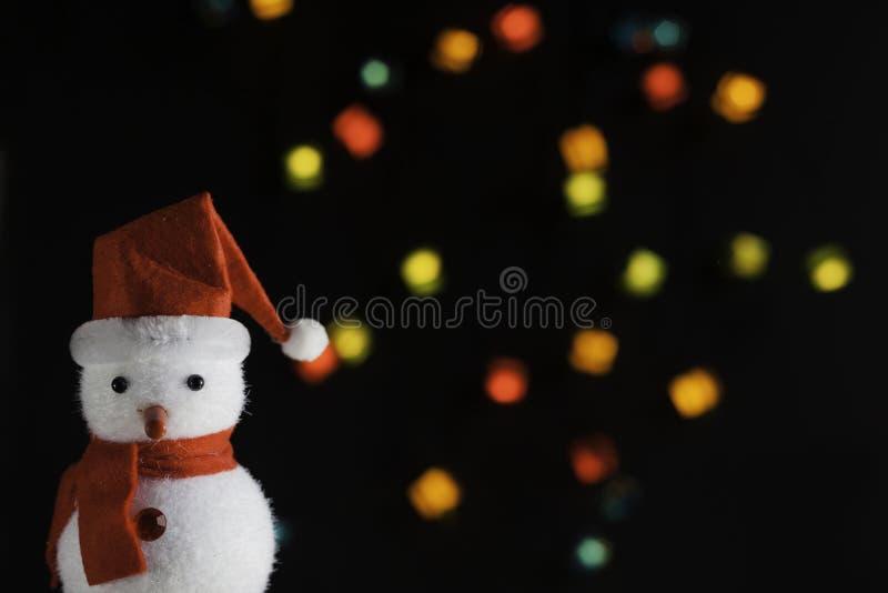 Санта-кукла с Рождественскими огнями стоковое изображение rf