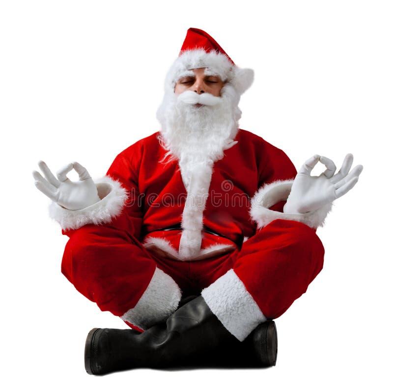 Санта Клаус в раздумье стоковое изображение rf