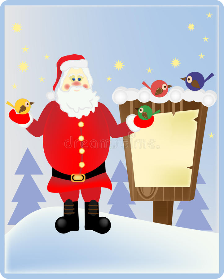 Санта Клаус в древесине стоковое фото