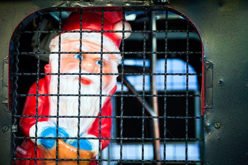Санта Клаус в тюрьме стоковое фото rf