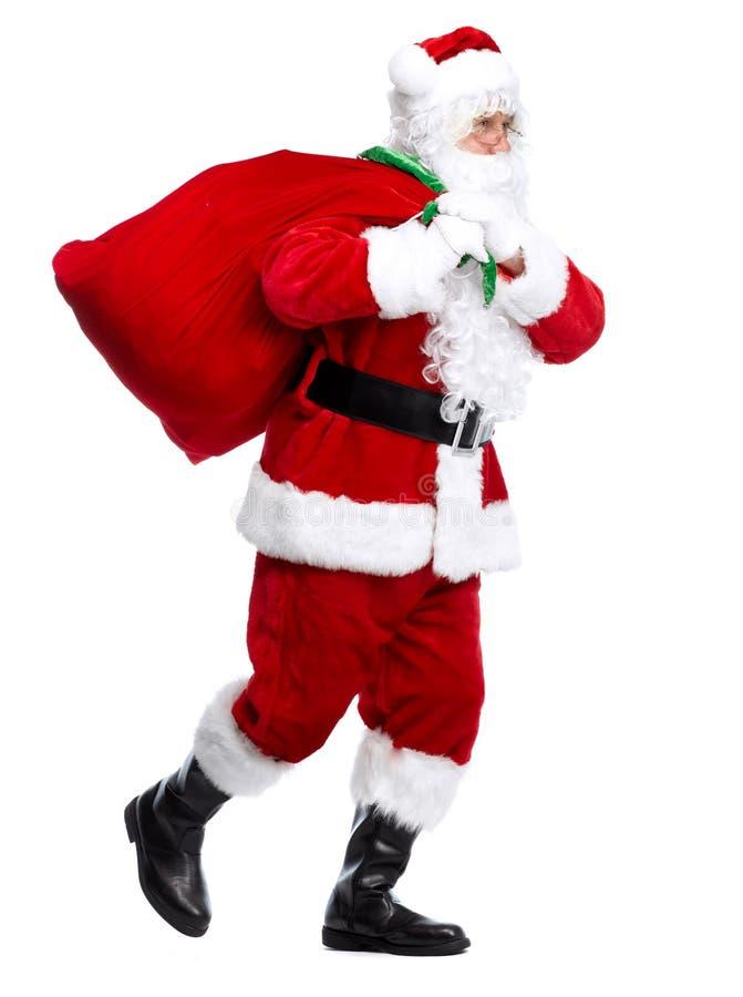 Санта Клаус изолировал на белизне. стоковые фотографии rf