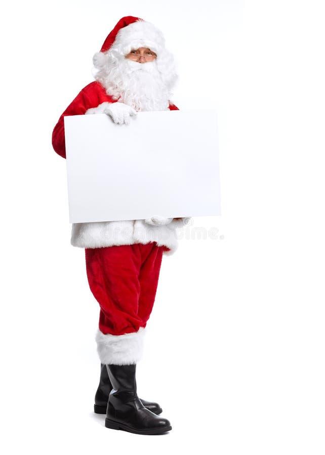 Санта Клаус изолировал на белизне. стоковое фото