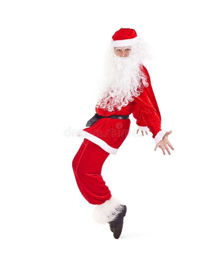 Санта Клаус имея потеху стоковые фотографии rf