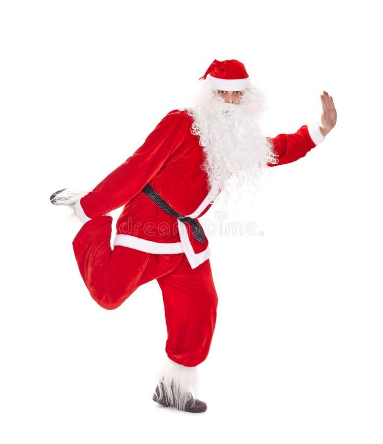 Санта Клаус имея потеху стоковые изображения