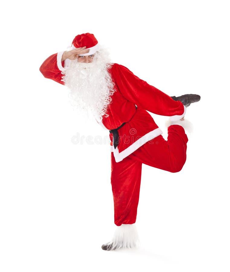 Санта Клаус имея потеху стоковое фото