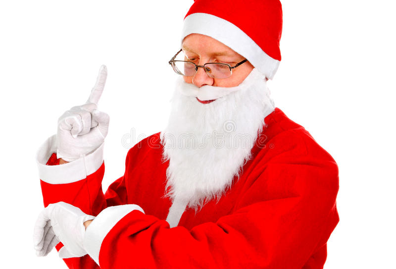 Санта Клаус на белизне стоковое изображение rf