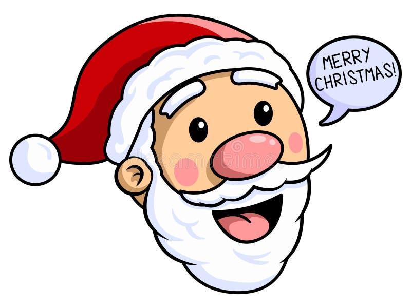 Санта Клаус с Рождеством Христовым иллюстрация штока