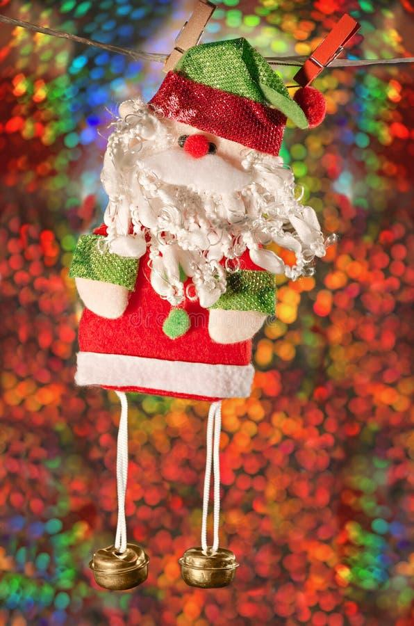 Санта Клаус, bokeh предпосылки праздника стоковое изображение
