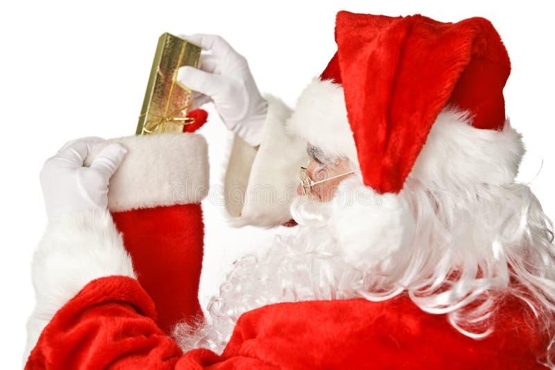 Санта Клаус - Stuffer чулка стоковая фотография rf