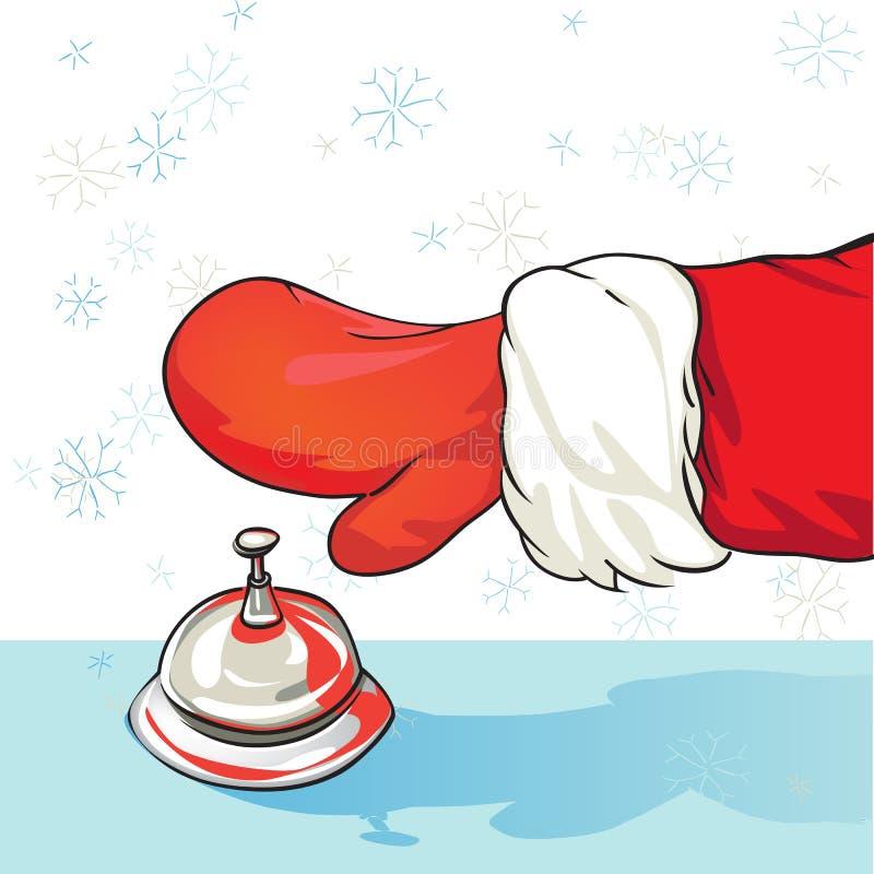Санта на гостинице иллюстрация штока