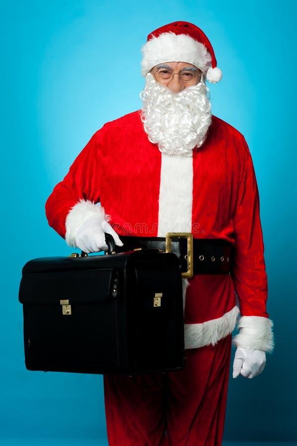 Санта совсем установлено для посещения его нового офиса стоковое изображение rf