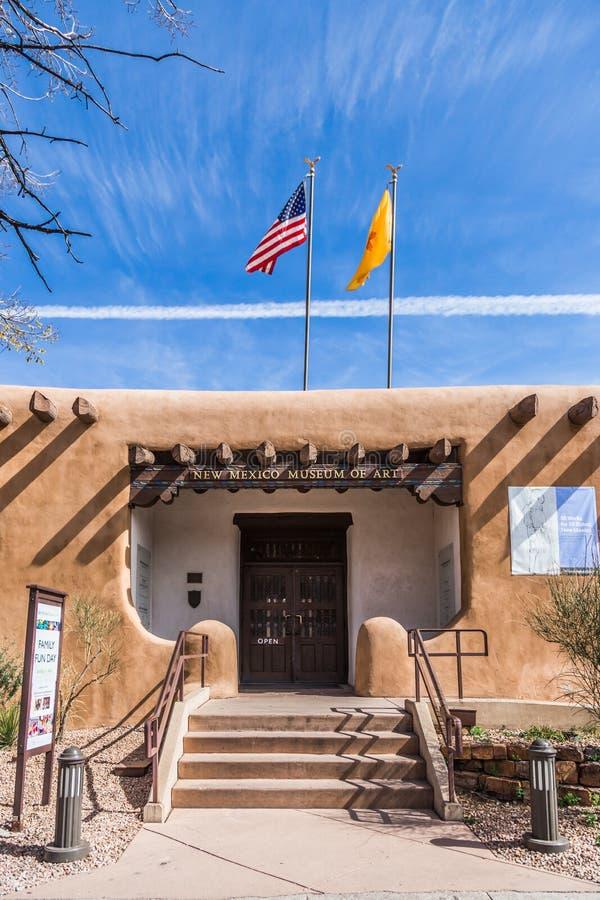 Санта-Фе, Неш-Мексико, США, 4-ое апреля 2014: Музей Неш-Мексико  стоковое изображение rf