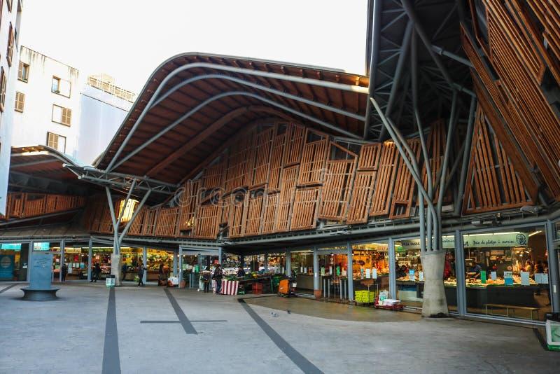 Санта Caterina, местный рынок в Барселоне Испании стоковая фотография