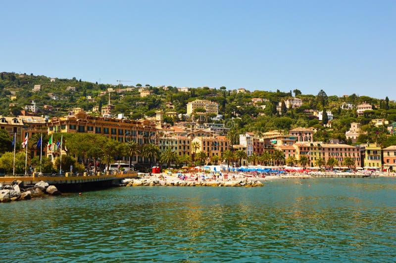 Санта Margherita Ligure, известный маленький город в Лигурии, Италии около Portofino стоковые фотографии rf