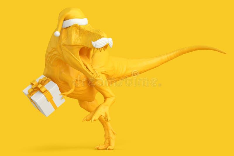 Санта Rex Принципиальная схема рождества иллюстрация 3d Содержит клиппирование стоковое изображение rf