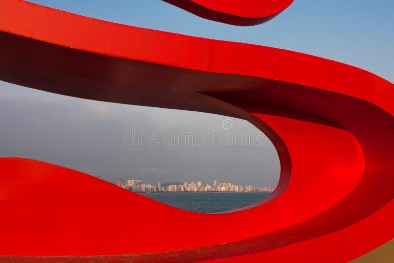 Сантос, Бразилия стоковое фото rf