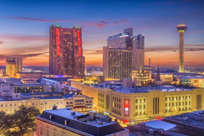 Сан Антонио, Техас, горизонт США стоковые фотографии rf
