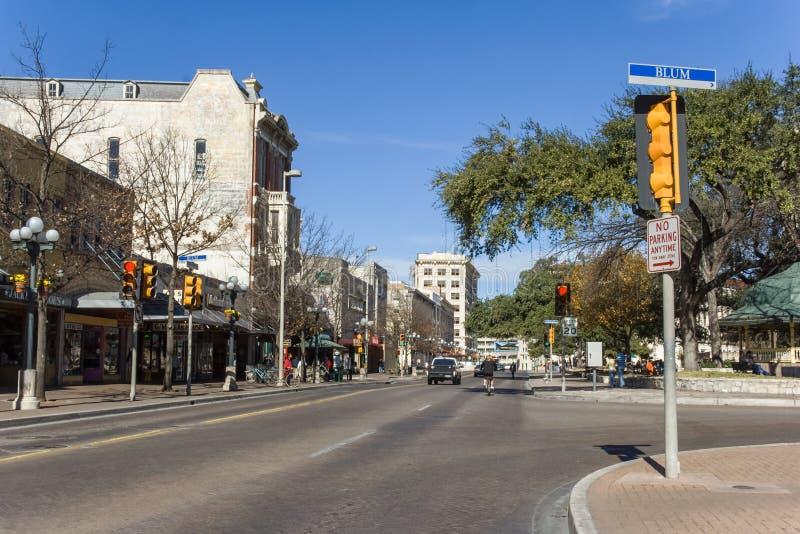 Сан Антонио, TX/USA - около ноябрь 2015: Улицы Сан Антонио, Техаса стоковые изображения rf