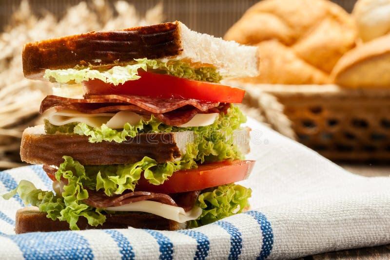 Сандвичи ветчины и сыра стоковое изображение rf