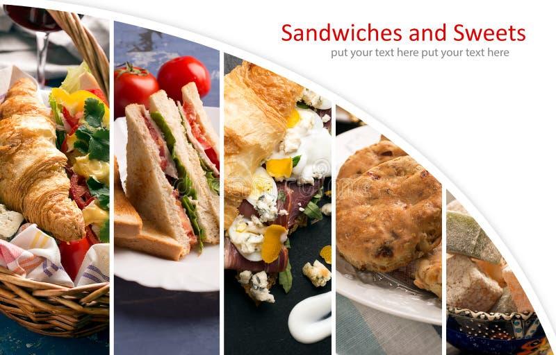 Сандвичи и помадки стоковое фото rf