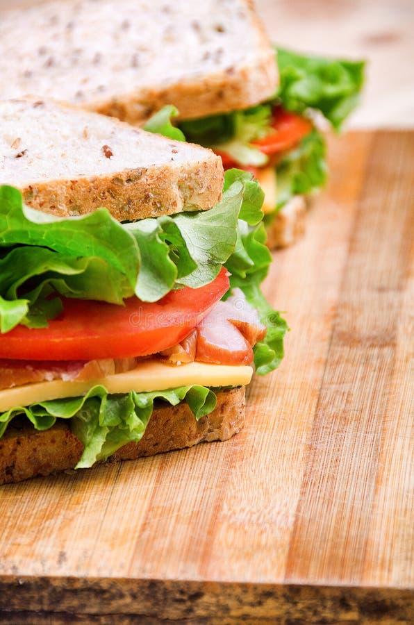 сандвичи 2 Питание Свежая & здоровая еда Концепция стоковые фотографии rf
