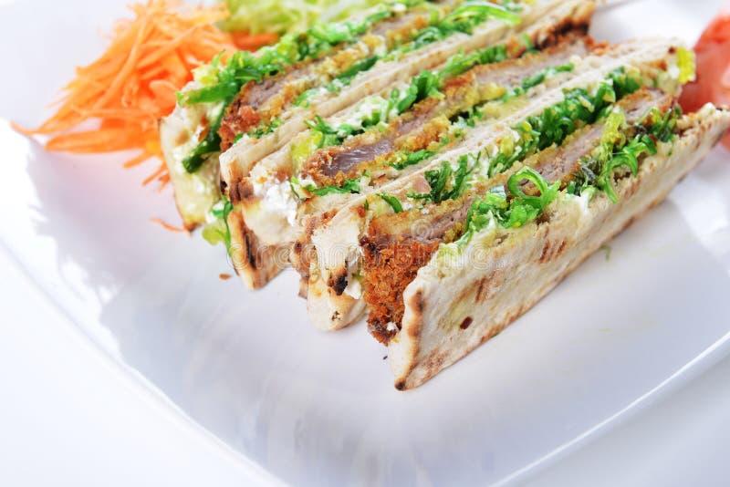 Сандвичи с мясом стоковое фото rf