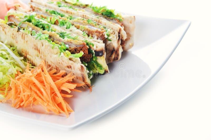 Сандвичи с мясом стоковые фото