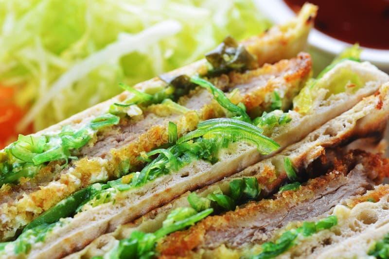 Сандвичи с мясом стоковое изображение
