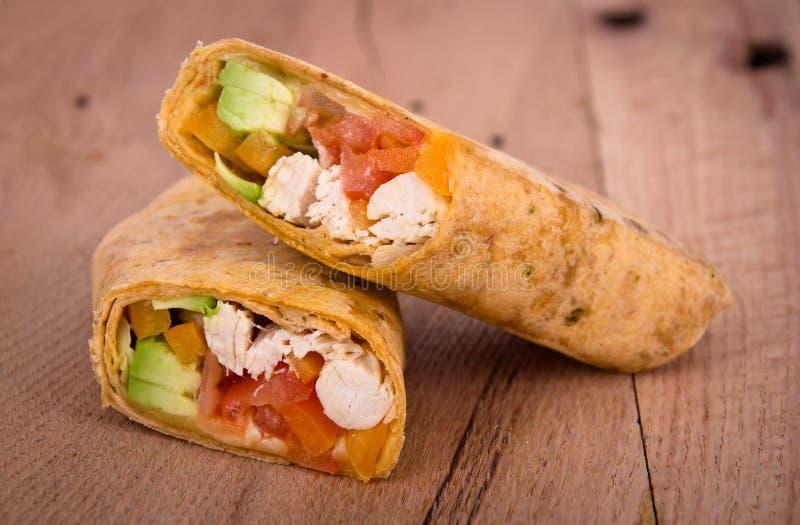 Сандвич обруча цыпленка стоковые изображения