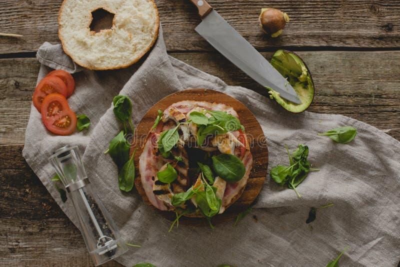 Сандвич донута стоковая фотография