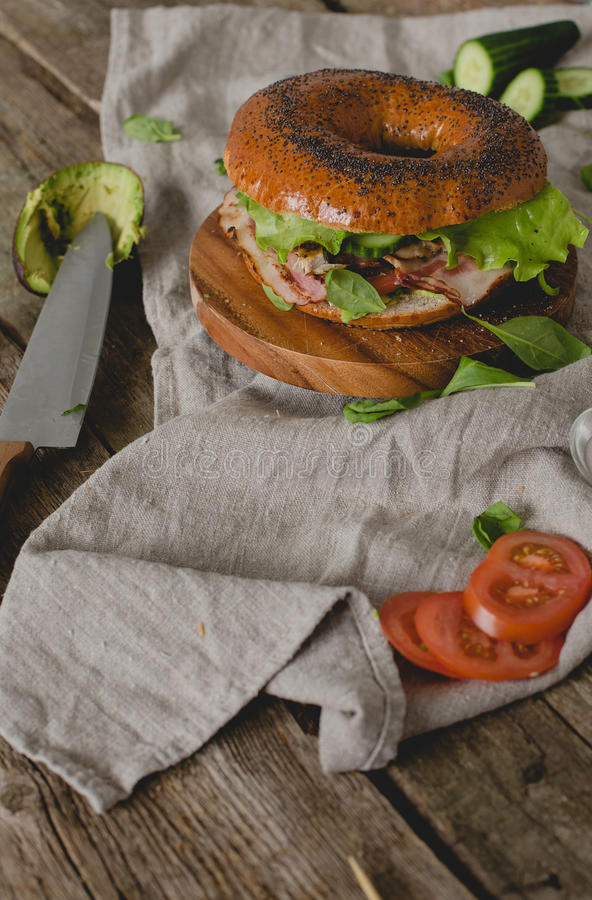 Сандвич донута стоковые фото