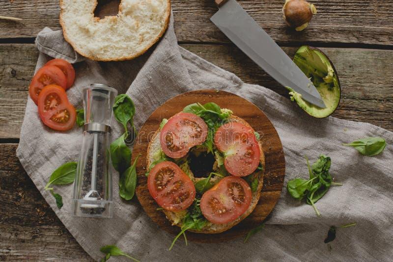 Сандвич донута стоковое фото rf