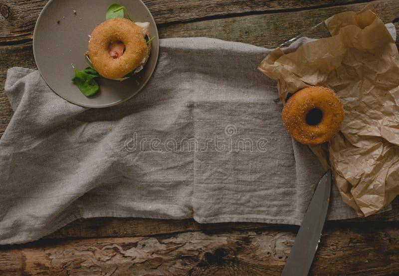 Сандвич донута стоковое изображение
